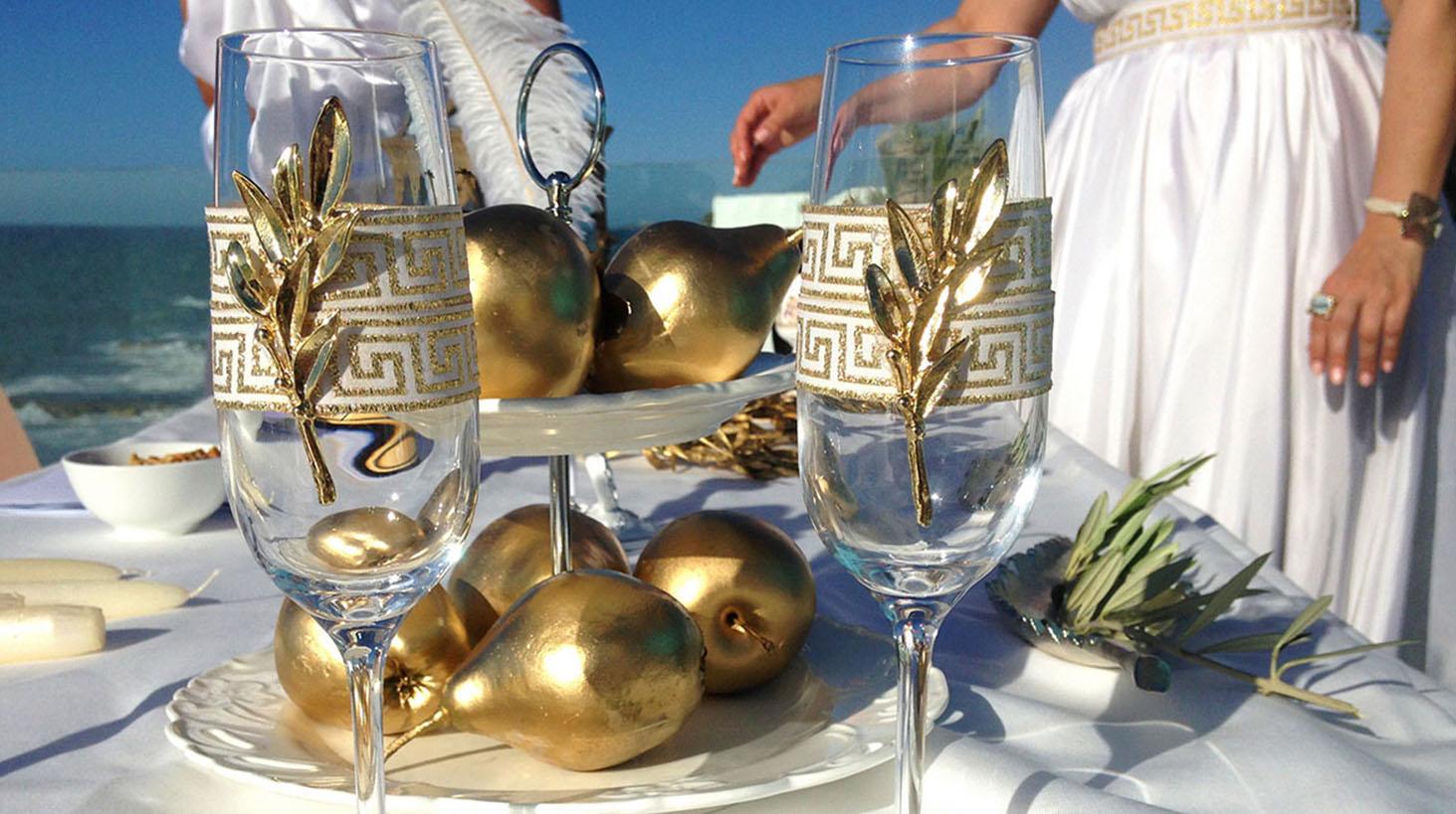 Греческая вечеринка фотозона