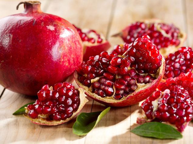 Eternity hidden in red arils of pomegranate